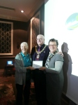 Tilehurst GLOBE receiving a special thank you from Reading Mayor
